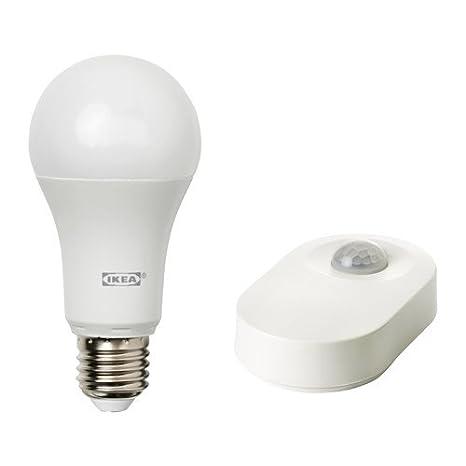 Ikea Juego tradfri para iluminación con detector de movimiento; en blanco; A +: Amazon.es: Iluminación