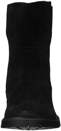 Buffalo Damen 8036 Suede Kurzschaft Stiefel Schwarz (Black 01)