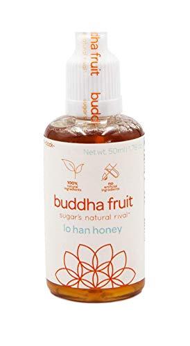 Han Luo Liquid Extract - Buddha Fruit | 100% Natural Sugar Alternative Drops | 0 cals, 0 Carbs | Liquid Natural Sweetener | Monk Fruit drops | Lo han honey
