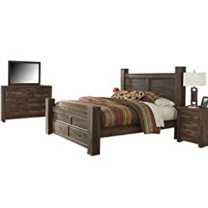 Signature Design By Ashley Quinden Bedroom Set With Queen Bed Nightstand Dresser