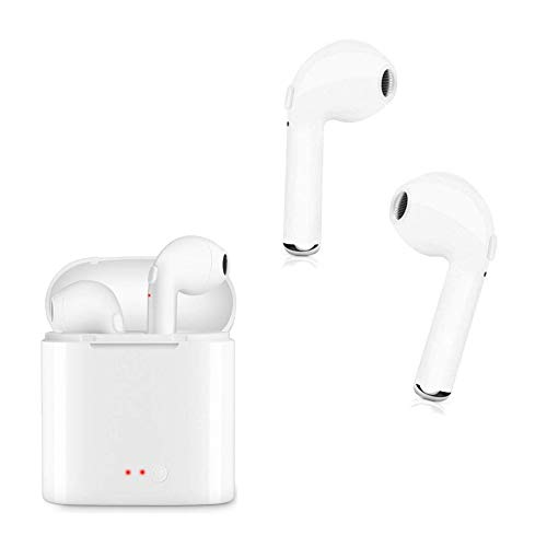 Bluetooth Headphones V4.2 Bluetooth Wireless Earbuds Stereo Impacting Mini Sports Headset Built-in Mic Charger Box and Supports All Bluetooth Devices … … … …