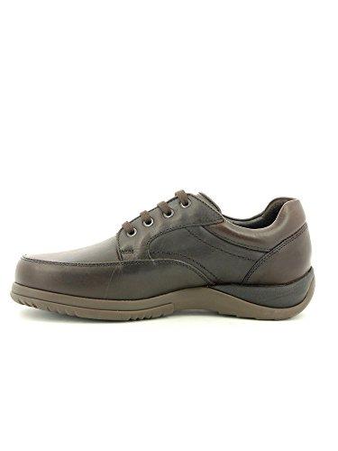 Zapato Callaghan De Piel Negro Marrón