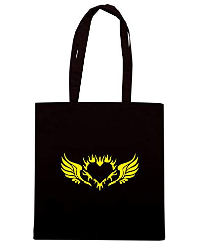 HEART Shopper Speed WINGS Borsa ANGEL WITH Shirt FUN0592 Nera 29267 xn4T68CnW