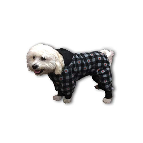 - Ultra Paws Dog Jacket, Gray/Red, Large