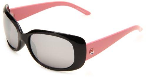I SKI River Run Rectangular Sunglasses,Black Frame/Smoke & Silver Mirror Lens,One - Sunglasses I Ski