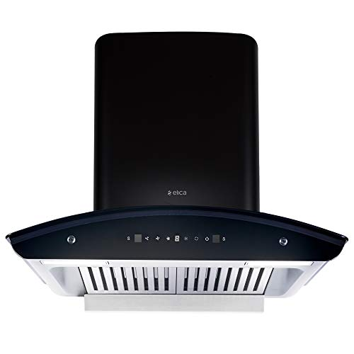 Elica 60 cm 1425 m3/hr Auto Clean Chimney with Free Installation Kit (WD TBF HAC 60 MS NERO, 2 Baffle Filters, Touch + Motion Sensor Control, Black)