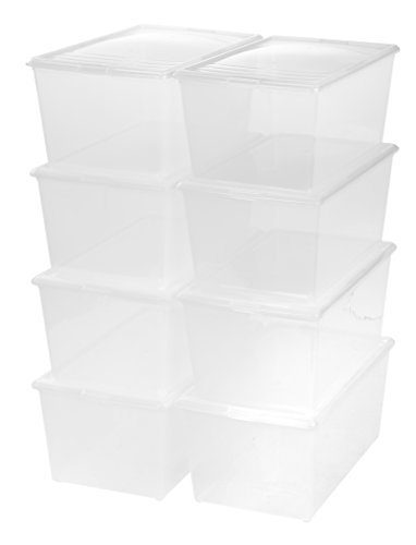 IRIS 64 Quart Modular Storage Box, Clear