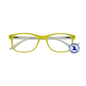 I NEED YOU Fashion Reading Glasses Yellow For Men & Women - Full Rim Eyewear Spring Hinge Designer Eyeglasses & High-Quality Plastic Eyeglass Frames - Power +1.0