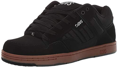DVS Men's Enduro 125 Skate Shoe,black reflective gum new black,12 Medium US