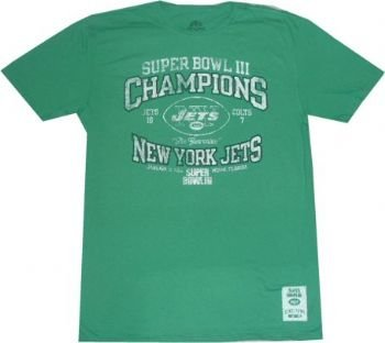 Image Unavailable. Image not available for. Color  New York Jets Super Bowl  3 Champions Vintage Slim Fit T Shirt ... d570925bd
