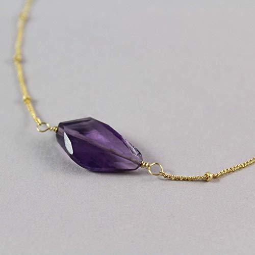 - Purple Ametrine Pendant Necklace Gold Filled Gemstone Jewelry For Women - 19