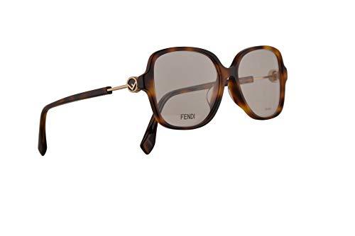 Fendi FF0364/F Eyeglasses 53-15-145 Dark Havana w/Demo Clear Lens 086 FF0364 0364 FF0364F FF 0364/F