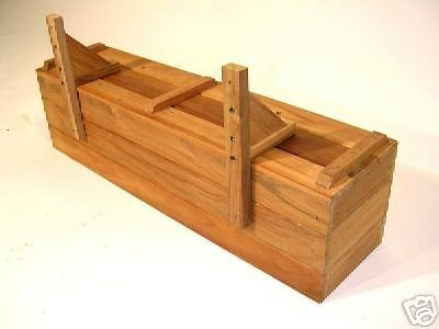 Teak wood planter flower herb window box garden 48'' inches long x 6'' x 6'' TEAK by Diamond Tropical Hardwoods