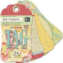 K&Company EK Success Wild Raspberry Tag Pad