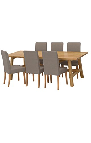 Ikea Table and 6 chairs, oak, Nolhaga gray-beige 10204.261411.2210 (Furniture Dining Ikea Room Sets)