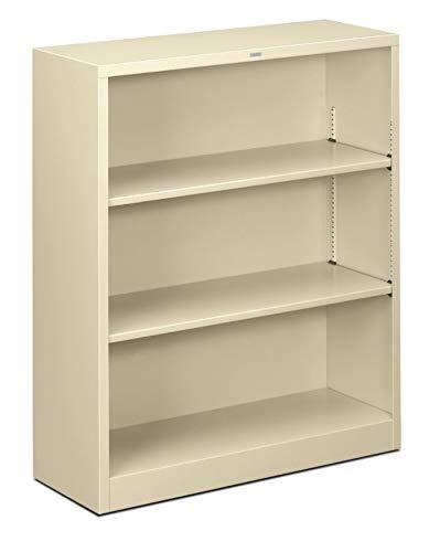 HON Brigade Steel Bookcase, 3 Shelves, Putty