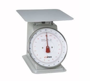 Winco SCAL-820 20-Pound/9.09kg Scale with 8-Inch Dial by Winco