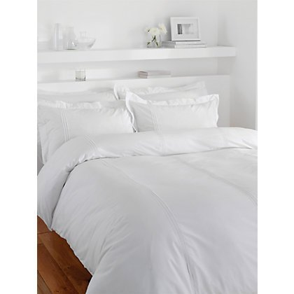 0c471a7b6ae COT PRINTS® 100% Cotton 200 TC Large Single Bed Sheet Set (1 Sheet and 1  Pillow Cover)(90x60 Inches)(Pure White)  Amazon.in  Home   Kitchen
