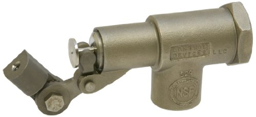 Robert Manufacturing R1350-5 Series Bob 316 Stainless Steel Float Valve Assembly with Stem, Viton Disc and Cup, 3/8