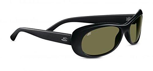 Serengeti 8206 Bella, Shiny Black Frame, Polarized 555nm - Sunglasses Belle