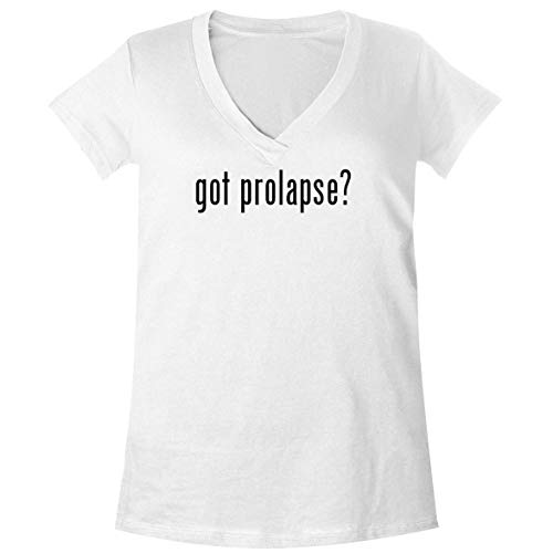 The Town Butler got Prolapse? - A Soft & Comfortable Women's V-Neck T-Shirt, White, Small