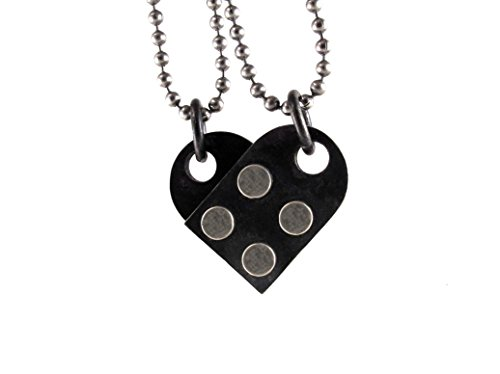 Interlocking Heart Pendant Set - Building Block Collection by rubygirl jewelry