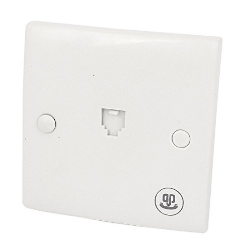 DealMux Square Single Gauge 6P4C RJ11 Telephone Outlet Socket Wall Plate -