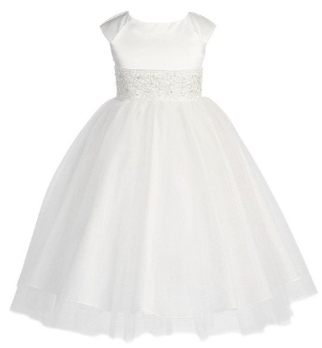 KID Collection Girls Angelic Princess Tulle Flower Girl Dress