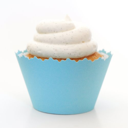 - Cupcake Wrappers Solid Colors Adjustable - Set of 12 (Light Blue)
