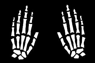 LLI Skeleton Hands | Decal Vinyl Sticker | Cars Trucks Vans Walls Laptop | White | 5.5 x 4 in | LLI1154