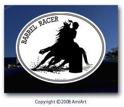 Amazoncom Horse Decal BARREL RACING Girl Riding Horse I Love - Barrel racing custom vinyl decals for trucks