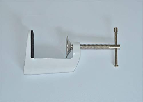 Ochoos Desk light iron clamp Black white Holder Clip Reinforcing device Lighting fixture table corner clip accessories 50pcs by Ochoos (Image #2)