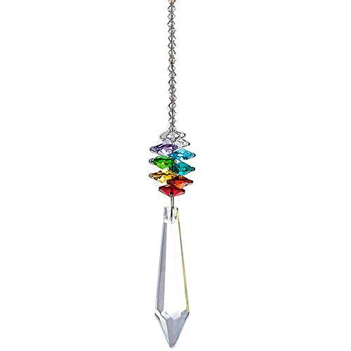 NszzJixo9 Crystal Ball Pendant - Accessories Colorful Octagonal Octagonal Hanging Drop, Car Pendant Crystal Chandelier Pendants Parts Glass Beads (C)