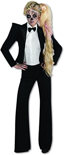 1980s Theme Party Costume Ideas (Lady Gaga Tuxedo Costume, Black,)