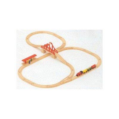汽車セット つり橋 MICKI つり橋 汽車セット 木のおもちゃ MICKI B00G33QSMW, A.QUEEN:e29a3f8a --- loveszsator.hu