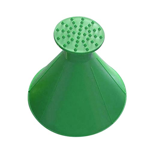 (Christmas Best Gift!!!Kacowpper Scrape A Round Magic Cone-Shaped Windshield Ice Scraper Snow Shovel Tool (Green, C:Big Size))