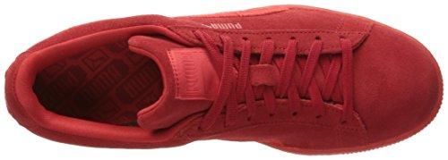 Sneaker classico da uomo in pelle scamosciata con marchio classico, rosso ad alto rischio, 14 M US