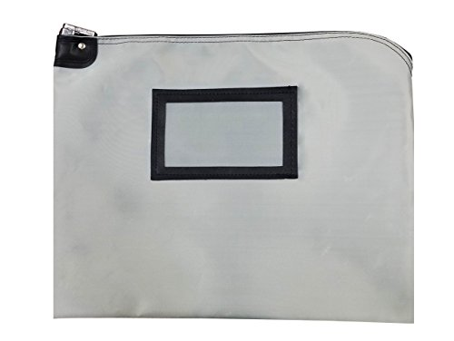 Locking Document HIPAA Bag 15 x 19 | Medical File Security | Legal Size Records Courier Bag (Gray) by Cardinal Bag Supplies