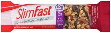 Slim Fast Advanced Nutrition Meal Replacement Bar, Dark Chocolate Cherry Cashew, 4 Count by Slim-Fast