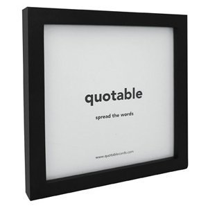 Quotable Quotable Card Frame - Black - Quotes Kitchen Home FR-01-QUOTE by Quotable ()