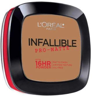 L'OREAL Infallible Pro-Matte Powder Classic Tan 30g -Our 1st 16H mattifying Powder Foundation Inspired by Japanese Two-Way Cake which Provides high Coverage (L Oreal Infallible Pro Matte Foundation Classic Tan)