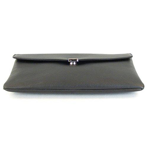 Pavini Damen Tasche Abendtasche Verona Leder schwarz 13306 Magnetverschluss