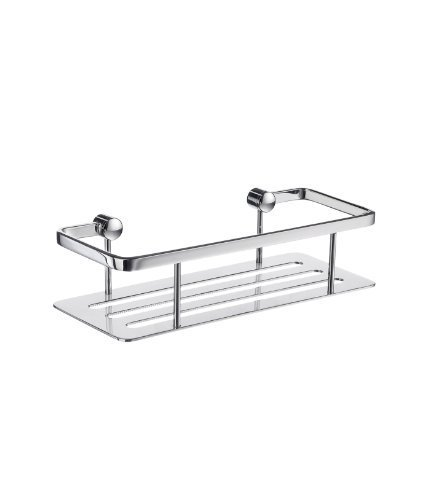 Sideline Rectangular Soap Basket in Polished Chrome Finish by Smedbo