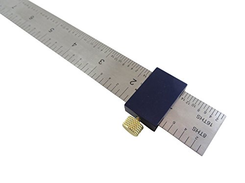 """Bundle Taytools 108880 Anodized Aluminum Ruler Stop Fence and 12"""" Spring Steel Machinist Ruler by Taytools (Image #1)"""