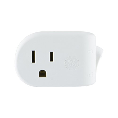 GE Grounded On/Off Power Switch, Plug-In, White, Energy Efficient, Space Saving Design, (Ge Electric Switch)