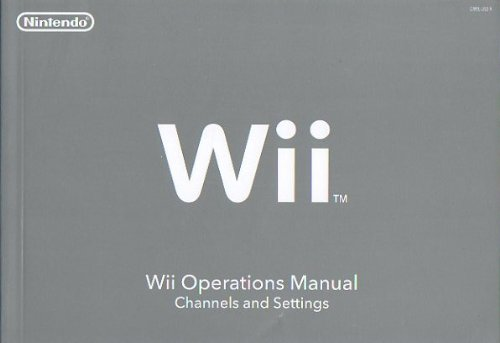 wii operations manual channels and settings nintendo nintendo rh amazon com Wii Operations Manual System Setup Installing Batteries Wii Operations Manual