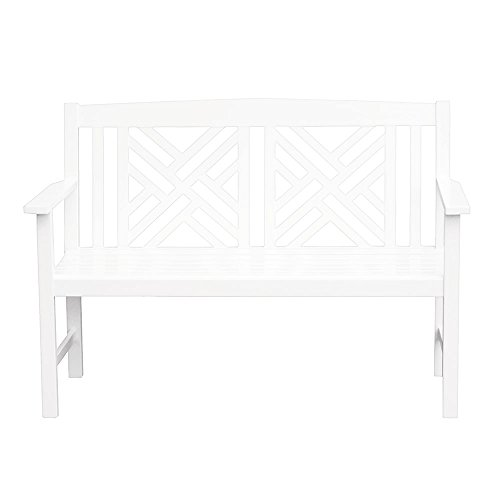 Black Fretwork Bench - Achla Designs Fretwork Bench