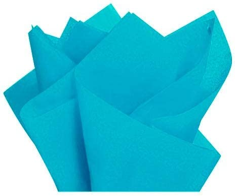 100 Sheets Gift Wrapping Tissue Paper 15 x 20 Colors of Rainbow Dark Aqua