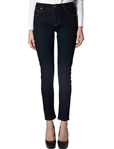 Camii Mia Jeans Skinny Femme Polaire Slim Fit pais Bleu Profond
