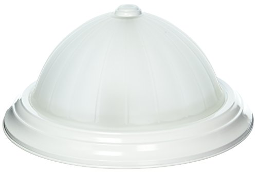 Nuvo Lighting 60/444 Two Light Flush Mount with Frosted Melon Glass, White, 13-Inch